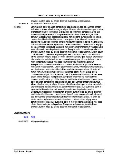 la relazione clinica può essere redatta velocemente: OPERAZIONI /> RELAZIONE CLINICA&#8221; id=&#8221;image529&#8243; src=&#8221;http://www.eumed-blog.com/wp-content/uploads/2006/10/relazione-clinica-007.jpg&#8221; /><br /> <img align=