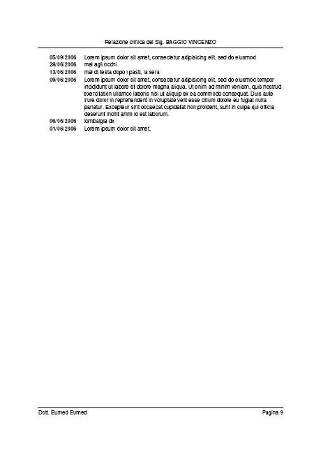 relazione clinica: stampa veloce con software medico